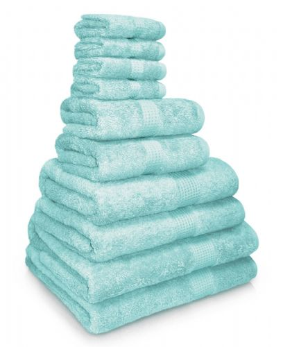 100% EGYPTIAN COMBED COTTON SUPER SOFT 650gms HOTEL QUALITY TOWELS SEAFOAM COLOUR